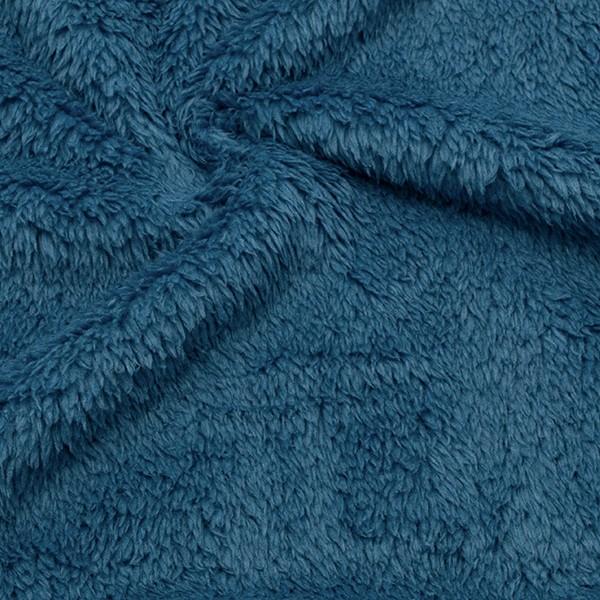 Teddy Plüsch Stoff Jeans-Blau
