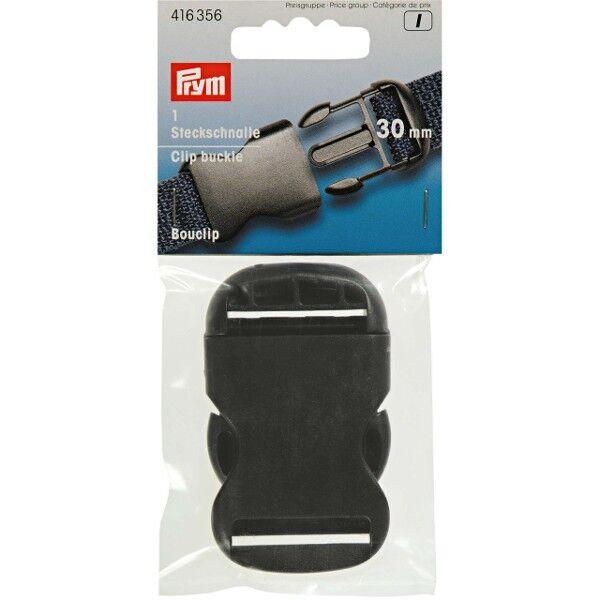 Prym 1 Stück Steckschnalle stark, 30mm, schwarz