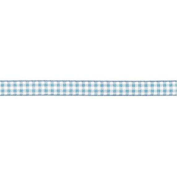 Prym Dekoband kariert 10mm x 4m (Breite / Länge) hellblau / weiss