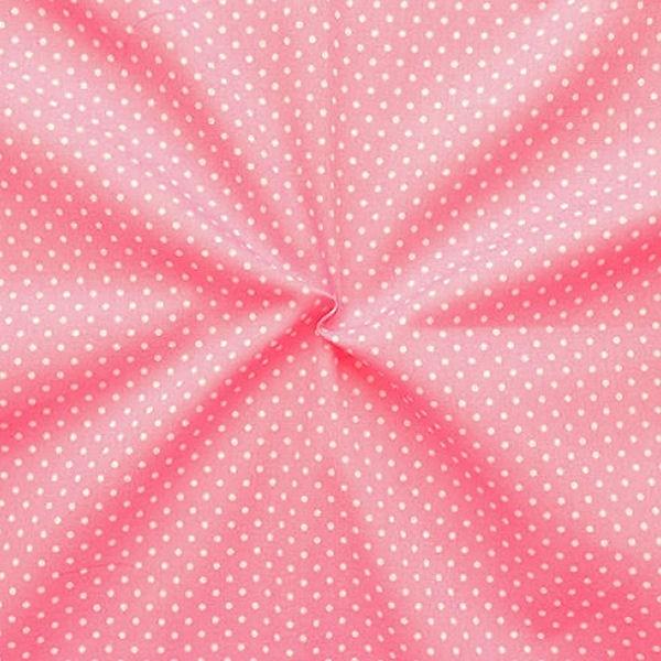 """Baumwollstoff """"Tupfen Klein"""" Farbe Rosa"""