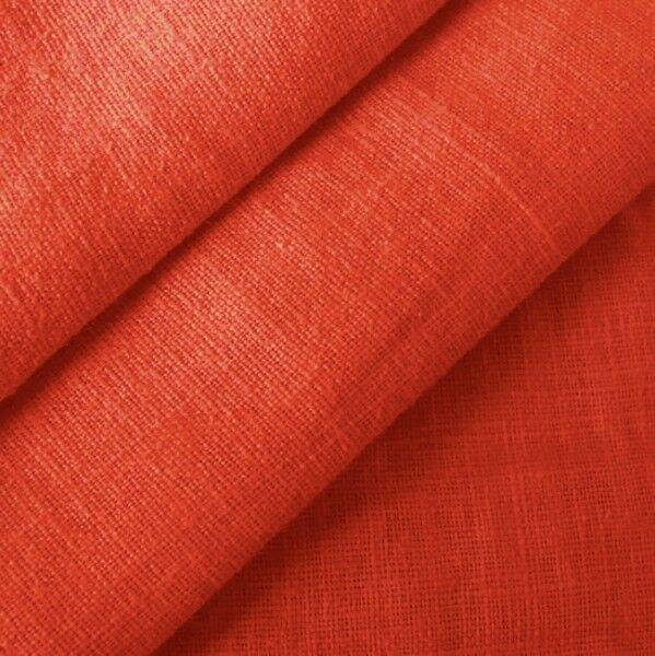 100% Leinen Stoff Artikel Barcelona, Farbe Rost-Rot