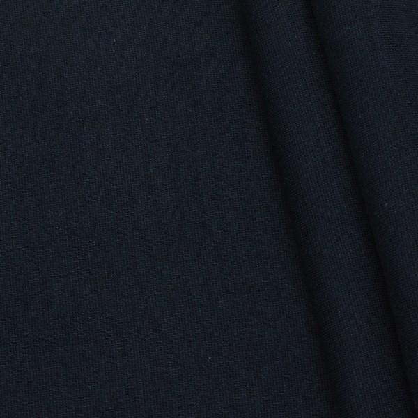 Bio-Baumwoll Bündchenstoff Organic Navy-Blau