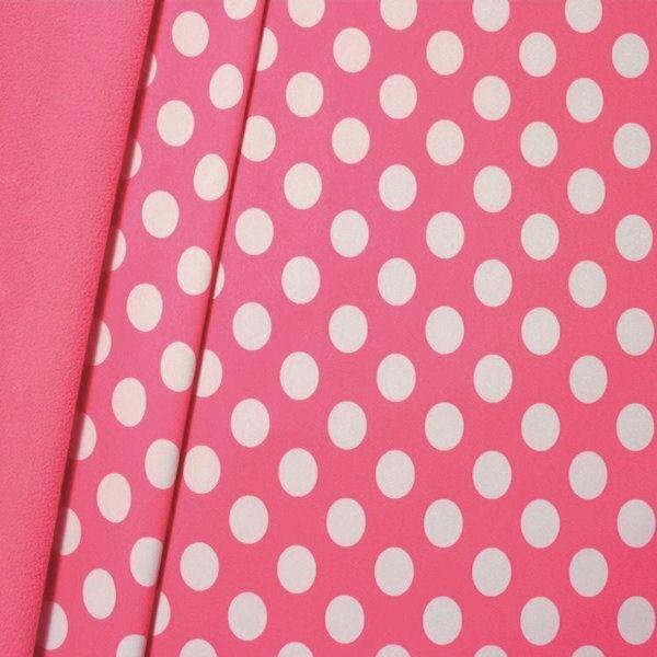 Softshell Fleece Stoff Punkte Groß Rosa