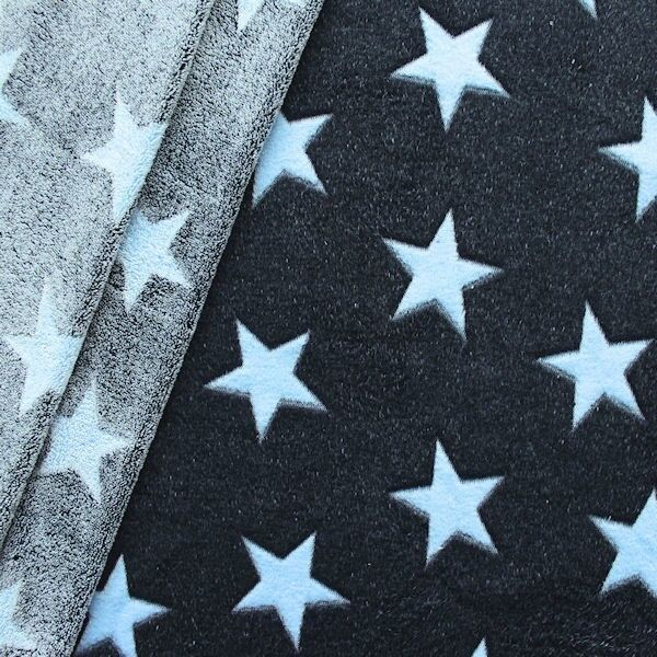 Wellness Fleece Sterne Dunkel-Blau