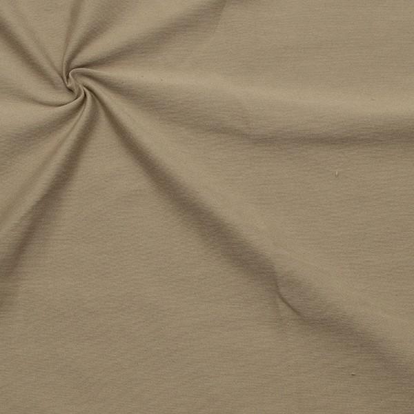 Organic Baumwoll Stretch Jersey Farbe Taupe