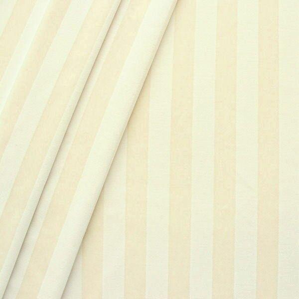 "Trevira CS Polsterstoff / Dekostoff ""Velvet Stripes"" Farbe Creme-Weiss"