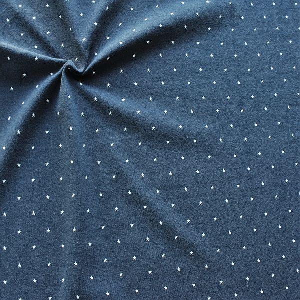Baumwoll Stretch Jersey Little Stars Dunkel-Blau