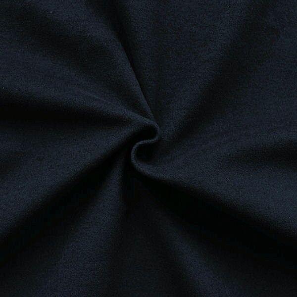 """Stretch Baumwolle Velours """"Samt Comfort"""" Farbe Nacht-Blau"""