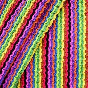 """Strickstoff Rüschenoptik """"Rainbow"""" Multicolor"""