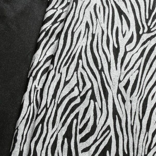Sweatshirt Baumwollstoff Animal Print Schwarz-Grau