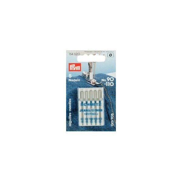 Prym Sortiment Spezial Nähmaschinennadeln mit Flachkolben Jeans No. 90-110