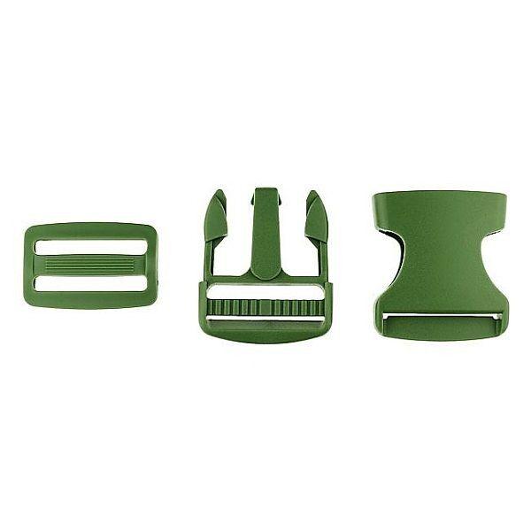 Steckschnalle Oliv-Grün