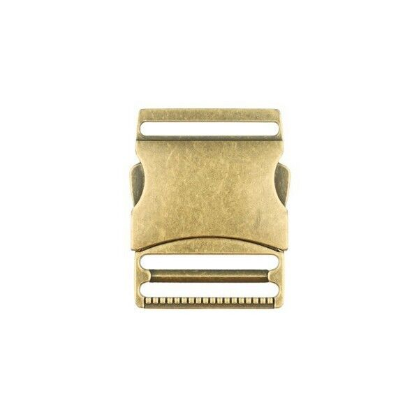 Metall-Steckschnalle 40mm Farbe Messing