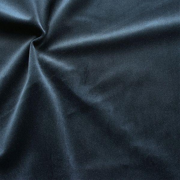 Microfaser Samt Stoff Velvet Touch Dunkel-Blau