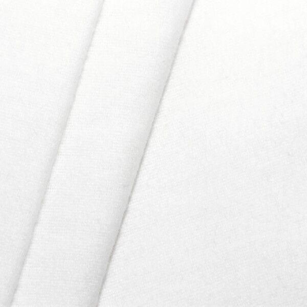 100% Baumwolle Molton universal Breite 150cm Farbe Weiss