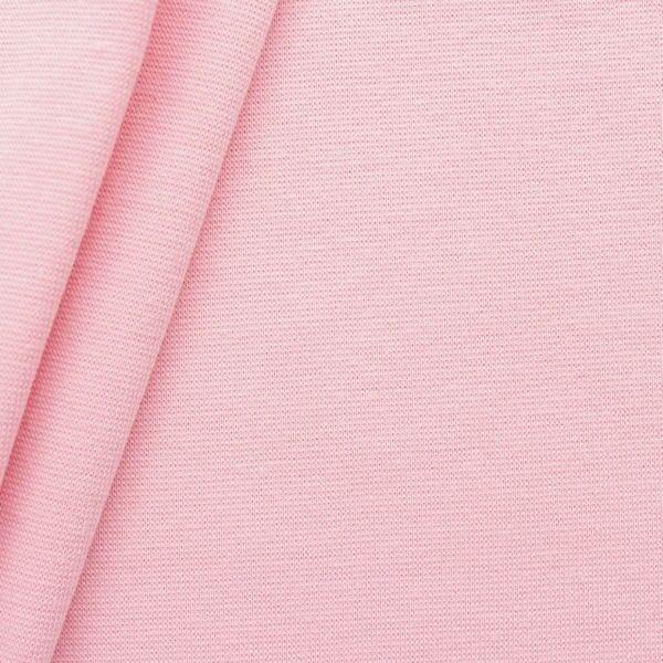 """Baumwoll Bündchenstoff """"glatt"""" Farbe Baby-Rosa"""