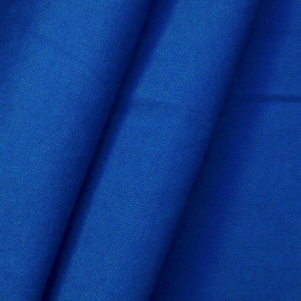 100% Baumwolle Canvas Farbe Royal-Blau