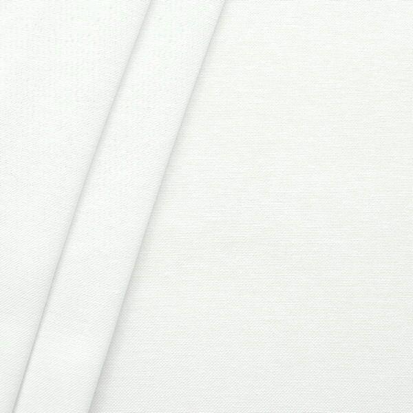 Dekostoff Breite 280cm Leinen-Optik Weiss