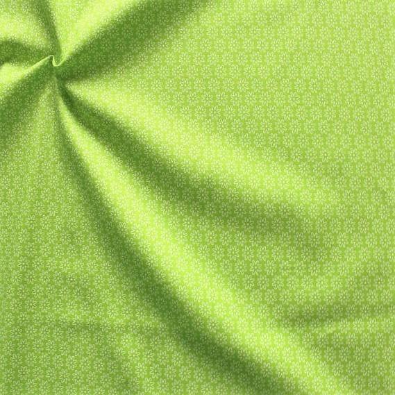 Baumwollstoff Sternblüten Lind-Grün