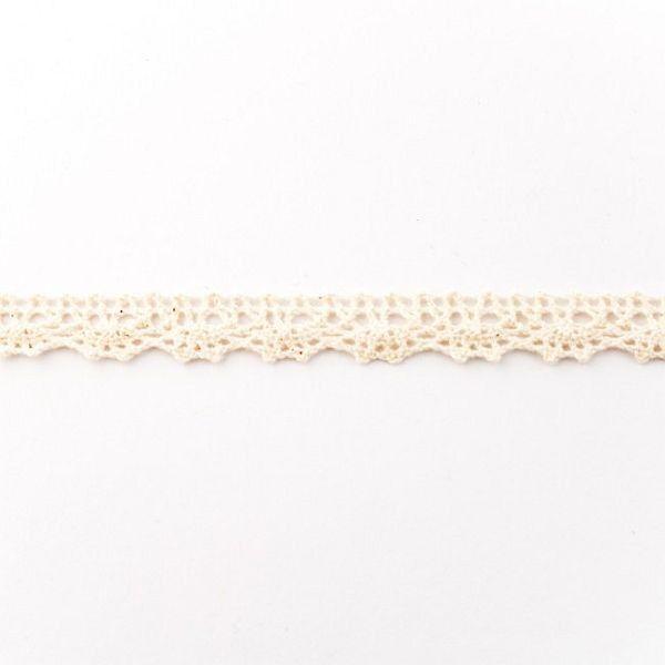 Baumwollspitze Breite 12mm Farbe Ecru