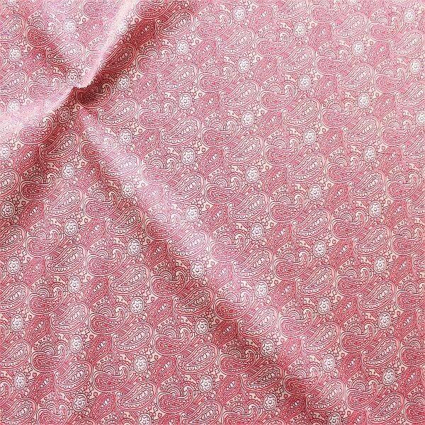 Baumwolle Popeline Paisley Floral Beige-Rosa