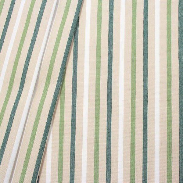 Indoor Outdoorstoff Streifen Mix Beige-Grün