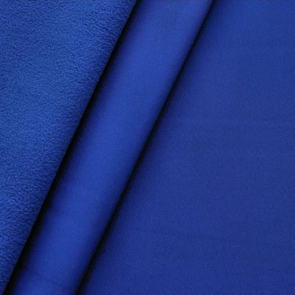Softshell Fleece Stoff Farbe Royal-Blau