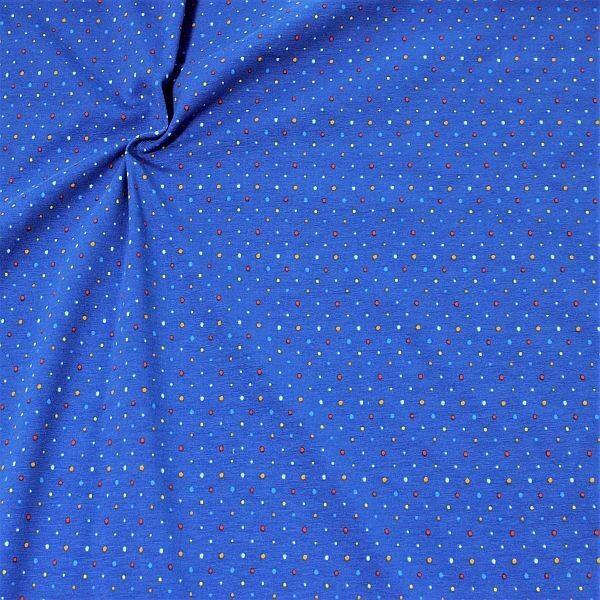 Baumwoll Stretch Jersey Konfetti Dots Blau