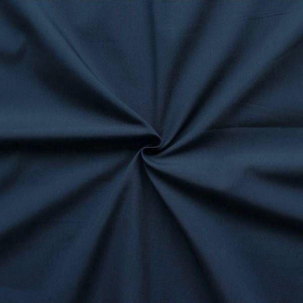 100% Baumwolle Popeline Navy-Blau