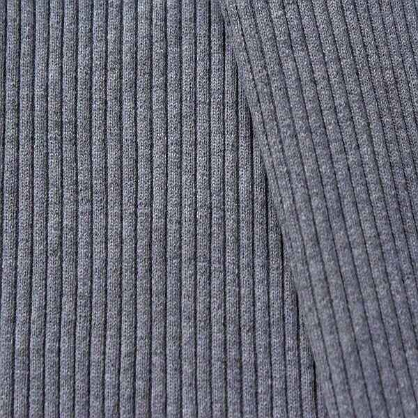 Baumwoll Bündchenstoff Grobripp Melange Blau