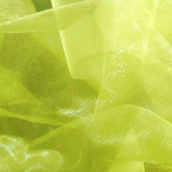 Organza einfarbig Farbe Lind-Grün
