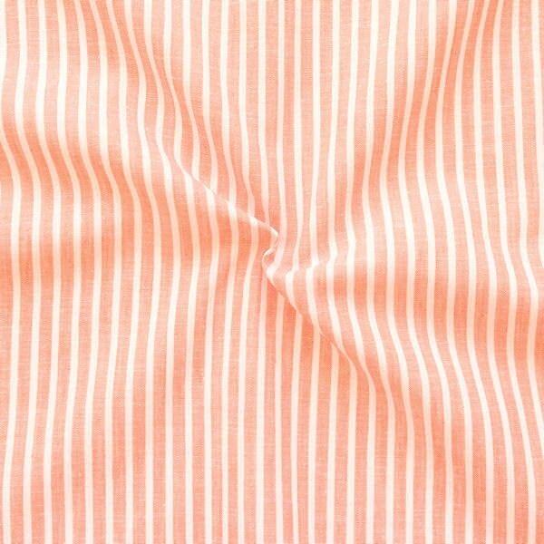 """Leinen-Baumwolle """"Streifen Classic 2"""" Farbe Orange"""