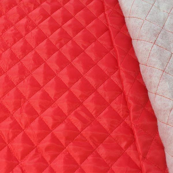 Steppstoff Futterstoff wattiert Rauten Klassik Rot
