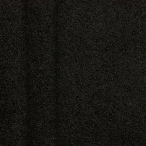 100% Wolle Walkloden Farbe Schwarz