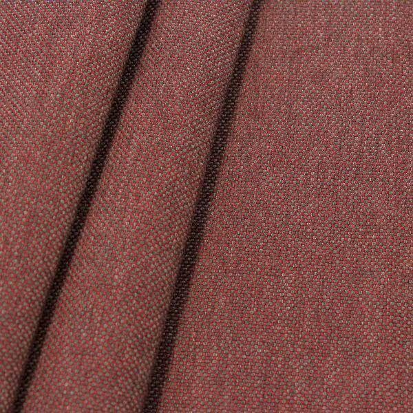 Indoor- Outdoorstoff Panama Bindung Weinrot meliert