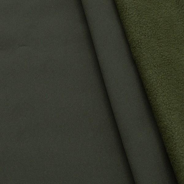 Softshell Fleece Stoff Oliv-Grün
