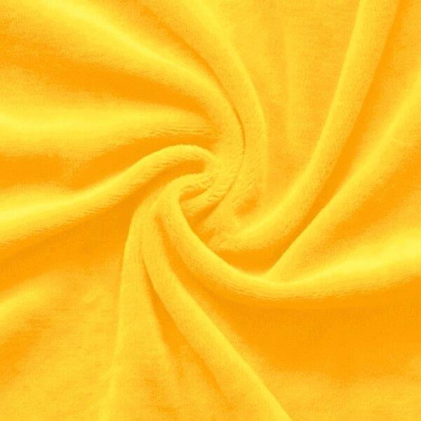 Nicki Baumwollstoff Farbe Sonnen-Gelb