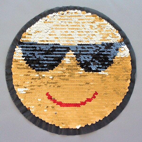Wendepailletten Patch Smiley Gold