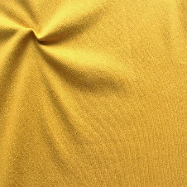Sweatshirt Baumwollstoff angeraut Curry-Gelb