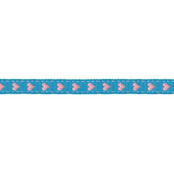 Prym Borte mit Herz 10mm x 2m (Breite / Länge) türkis / rosa