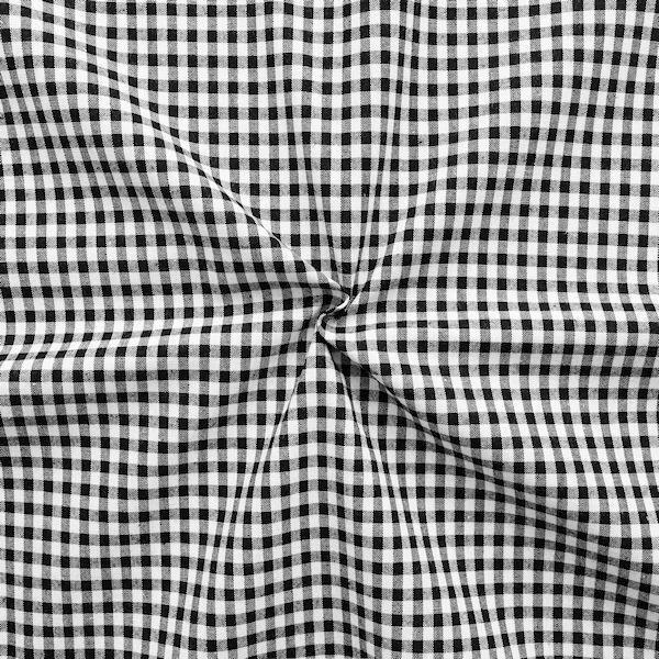 """100% Baumwollstoff """"Karos mittel"""" Farbe Schwarz Weiss"""