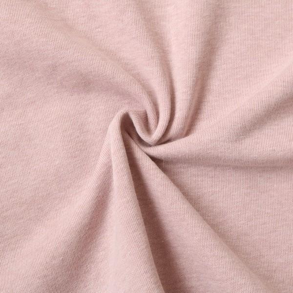 Sweatshirt Baumwollstoff Melange Alt-Rosé