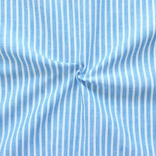"""Leinen-Baumwolle """"Streifen Classic 2"""" Farbe Capri-Blau"""