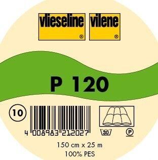 Vlieseline dünnes Volumenvlies zum Einnähen Typ P 120 flammhemmend Farbe Weiss