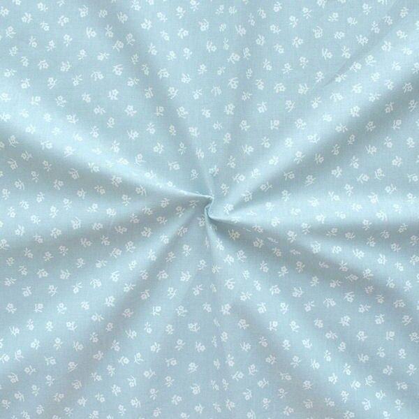 100% Baumwollstoff Trachten Blümchen Hell-Grau