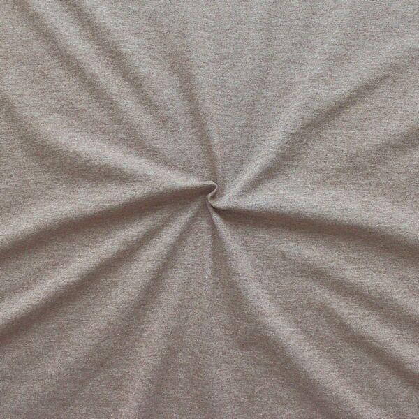 Baumwoll Stretch Jersey Braun melange