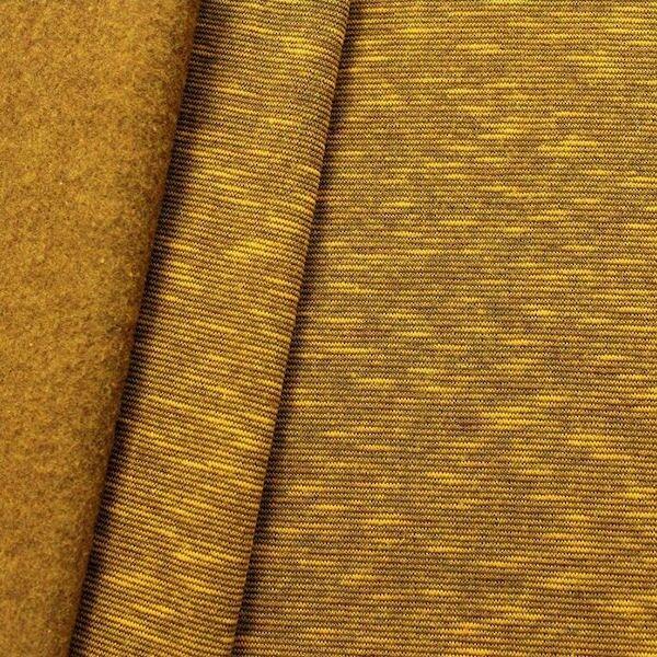 Sweatshirt Baumwollstoff Two Tone Curry-Gelb