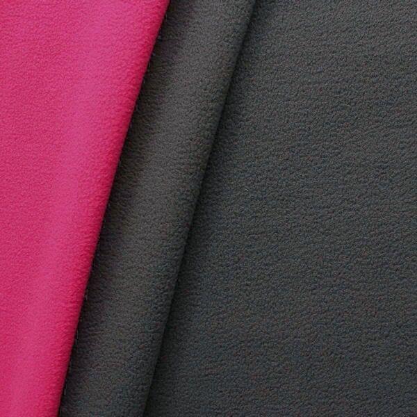 Doubleface Fleece antipilling Farbe Dunkel-Grau Pink