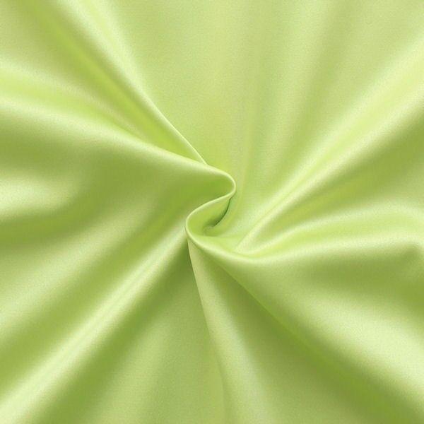 Stretch Satin Stoff 2 Farbe Gelb-Grün