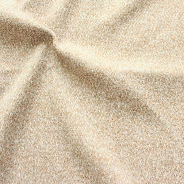 Mantelflausch Marmor Optik Beige-Weiss
